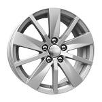 КиК КС738 (FABIA) 6x15 5*100 ET43* D57.1 серебро   Монтажный комплекс 4х колес-500 р.