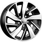 КиК КС741 (Soul) 6.5x16 5*114.3 ET47 d67.1 черный с полиров.лицевоу поверхностью  Монтажный комплекс 4х колес-700 р.